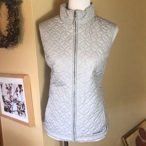 EDDIE BAUER Large Quilted Zip Ladies Vest $88 NEW